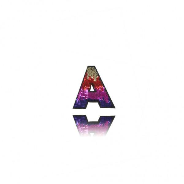 Aplikacja cekinowa literka A