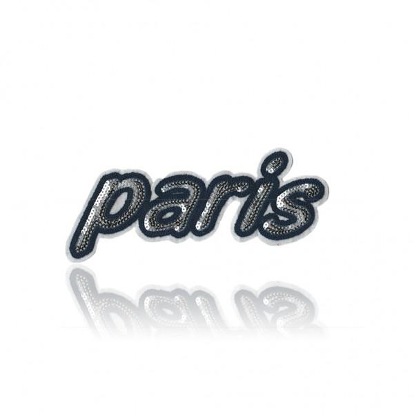 Aplikacja cekinowa napis Paris