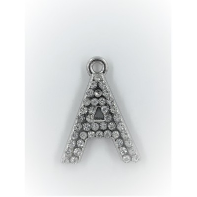Przywieszka metalowa literka A