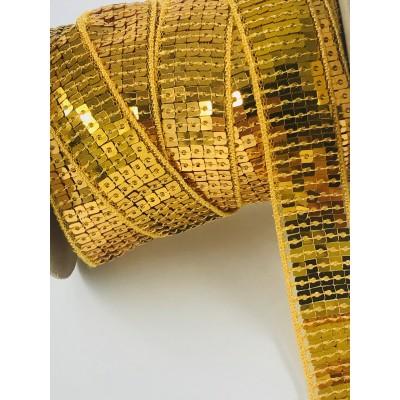 Taśma cekinowa złota
